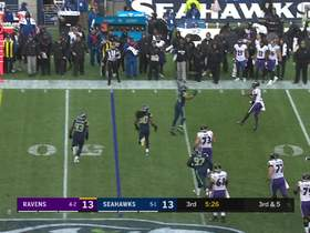 Watch: Lamar Jackson extends the play to find Hayden Hurst for third-down pickup