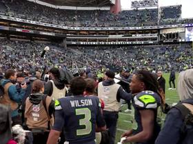 Watch: Earl Thomas meets Russell Wilson on the field postgame
