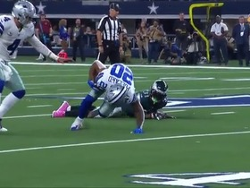 Watch: Tony Pollard's nasty cutbacks earn Cowboys first down