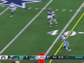 Watch: Wentz buys time to deliver improbable ball to diving Agholar