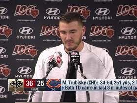 Watch: Trubisky: Bears' loss to Saints was 'frustrating, ugly'