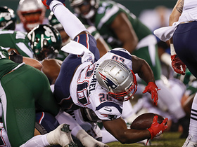 Watch: Hat-trick TD! Sony Michel follows LB at FB for third score