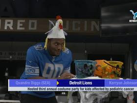 Watch: Detroit Lions host costume party for kids affected by cancer