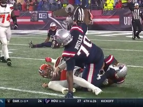 Watch: Patriots swarm Baker Mayfield on fourth-and-long for huge sack
