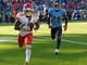 Watch: Tyreek Hill climbs into the stands after toasting Titans' D for TD