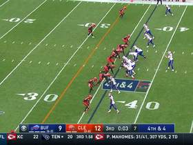 Watch: Browns' D holds as Allen's fourth-down pass falls incomplete