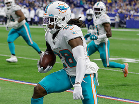 Watch: Bobby McCain shows speed on Fins' second INT of Brian Hoyer