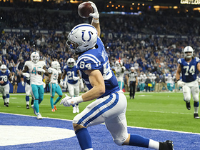 Watch: Jack Doyle lays down supersonic spike after TD giving Colts the lead