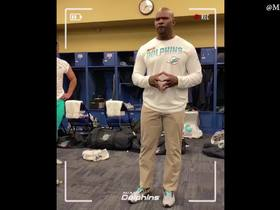 Watch: Brian Flores shouts out Dolphins kicker Jason Sanders in postgame speech