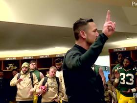 Watch: Matt LaFleur congratulates Packers on 'hard fought battle' in postgame speech