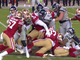 Watch: Niners win scrum for the football after Rashaad Penny's fumble