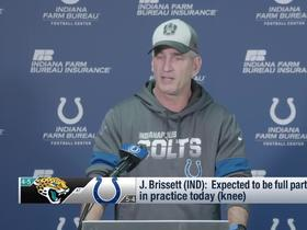 Watch: Frank Reich: Brissett expected to start Week 11 vs. Jags