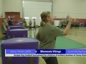 Watch: Vikings host flag football tournament for children of military families