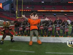 Watch: Browns' band and mascots get hyped before 'TNF'