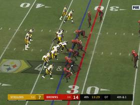 Watch: Rudolph can't handle the pressure on fourth-down incompletion