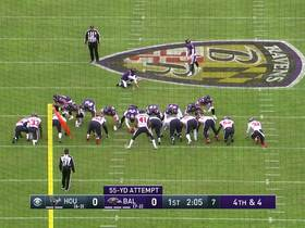 Watch: Texans sniff out Ravens' fake FG for huge fourth-down stop