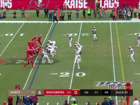 Watch: Can't-Miss Play: Davis delivers INT after Bucs' bizarre behind-the-back bobble