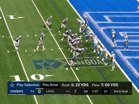 Watch: Lions' D drop Dak in drive stopping sack