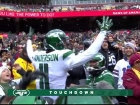 Watch: Sam Darnold hits Robby Anderson on the move for his second TD toss
