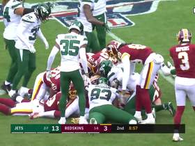 Watch: Redskins force fumble after Vyncint Smith body-surfs over pile of players