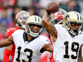 Watch: Drew Brees dissects Bucs defenders on TD dart to Ted Ginn