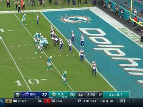 Watch: Bills D stuffs Fitzpatrick's fourth down QB sneak for turnover on downs