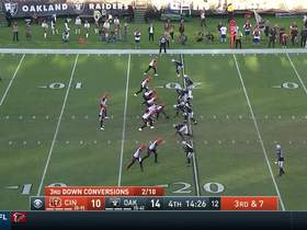Watch: Maxx Crosby bullrushes through Bengals' OL for third-down sack