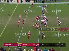 Watch: Niners fall on KeeSean Johnson's fumble to ice win over Cardinals