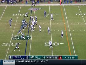 Watch: Agholor can't haul in Wentz's fourth-down heave in back of the end zone