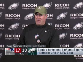 Watch: Doug Pederson reacts to Eagles' third loss in five games