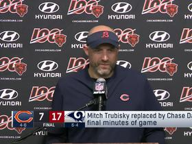 Watch: Nagy explains why Trubisky was replaced in final minutes