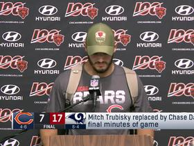 Watch: Mitch Trubisky says hip 'kept getting tighter and tighter'