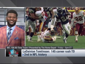Watch: LaDainian Tomlinson reacts to being named All-Time Team finalist