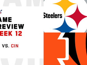Watch: Steelers vs. Bengals preview | Week 12