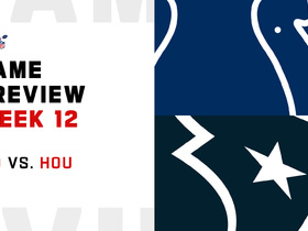 Watch: Colts vs. Texans preview | Week 12