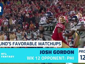 Watch: Cynthia Frelund's 10 most favorable Flex matchups | Week 12
