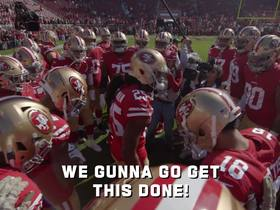 Watch: Mic'd Up: Join the 49ers on the sideline during Week 11 win