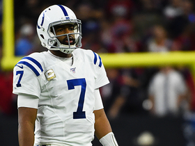 Watch: Jacoby Brissett comes up short on fourth-and-7 sprint