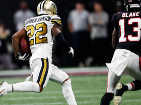Watch: C.J. Gardner-Johnson leaps to halt Falcons' drive with first INT