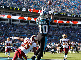 Watch: Curtis Samuel high-points Kyle Allen's pass in back of the end zone for TD