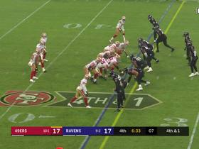 Watch: Ravens swat down Jimmy G's fourth-down throw for turnover on downs