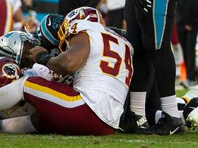 Watch: Can't-Miss Play: Redskins seal win over Panthers on chaotic strip-sack