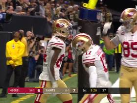 Watch: Kendrick Bourne beats Marshon Lattimore for tightly-contested TD grab