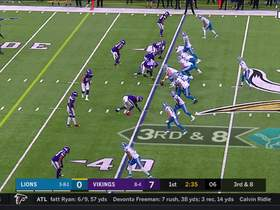 Watch: Danielle Hunter closes in on Blough for second sack of game