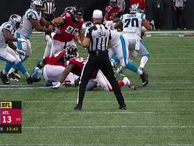 Watch: Vic Beasley forces fumble on powerful strip-sack