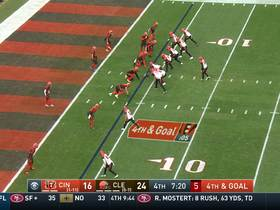 Watch: Browns stuff Bengals' fourth-and-goal QB draw