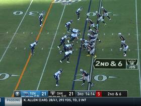 Watch: Wheels on the Carr go round and round! QB scrambles 15 yards for first down