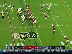 Watch: Diontae Johnson reverses field for shifty 14-yard pickup