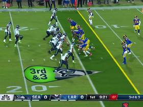 Watch: Rams collapse the pocket around Wilson for third-down sack