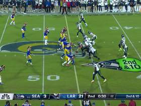 Watch: Dante Fowler chases down Russell Wilson for sack to close first half